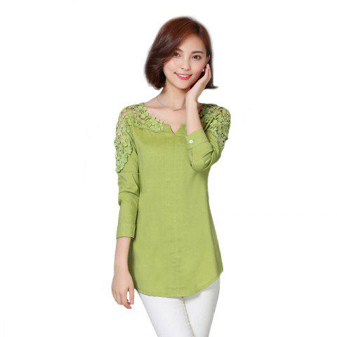 Chic Women's Wear Fashion  Bare Shoulders and Long Sleeve Shirts Plus Sizes