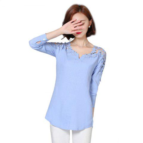 Discount Women's Wear Fashion  Bare Shoulders and Long Sleeve Shirts Plus Sizes