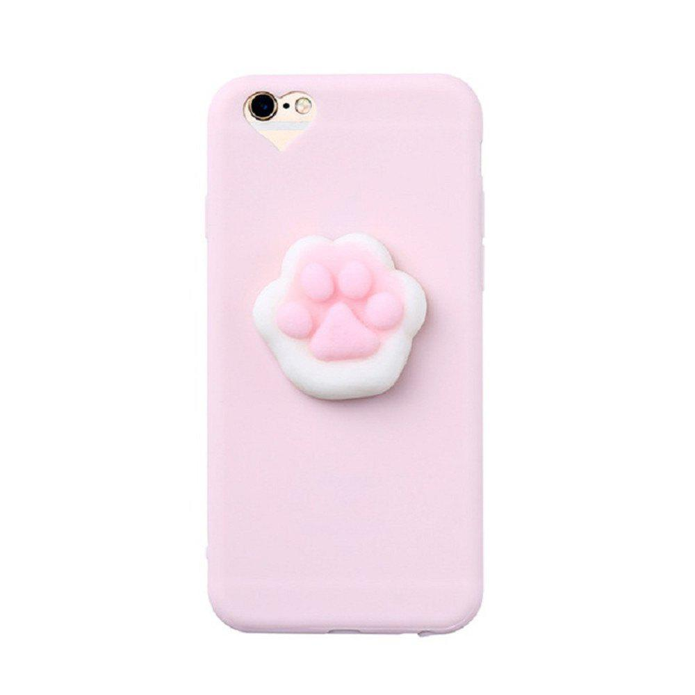 7d1a3072f077fc Outfits 3D Squishy Cat Claw Case for iPhone 8 Plus Kneading Soft Silicone  Finger Pinch Cute