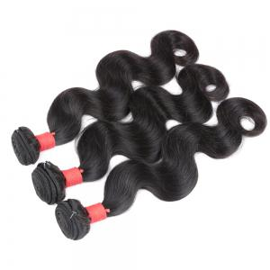 Natural Color Indian Body Wave Unprocessed Virgin Human Hair weaves 1pc / 100g -