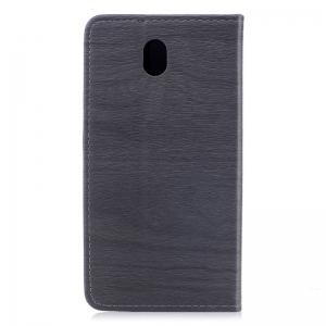 Wood Grain Flip Magnetic PU Leather Phone Cover for Samsung Galaxy J7 2017 J730 EU -