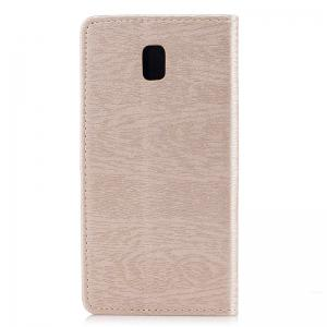 Wood Grain Flip Magnetic PU Leather Phone Cover for Samsung Galaxy J5 2017 J530 EU -