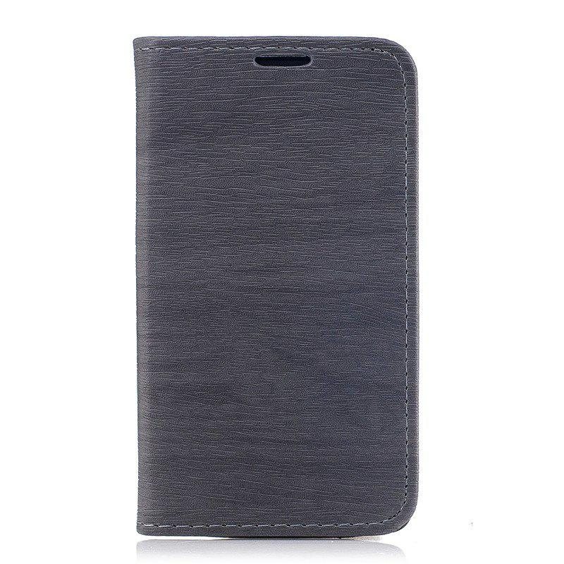 Unique Wood Grain Flip Magnetic PU Leather Phone Cover Case for Lenovo A1000