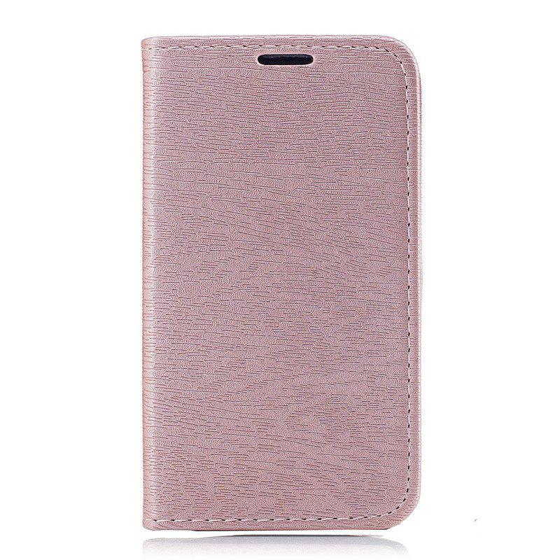 Fancy Wood Grain Flip Magnetic PU Leather Phone Cover Case for Lenovo A1000