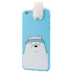 Animaux de bande dessinée 3D Cute Bare Bears Soft Silicone Case Skin pour iPhone 7/8 -
