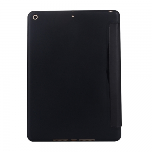 For iPad 2017 Case PU Transparent Back Ultra Slim Light Weight Trifold Smart Cover -