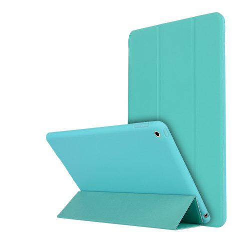 Trendy For iPad 2017 Case PU Transparent Back Ultra Slim Light Weight Trifold Smart Cover