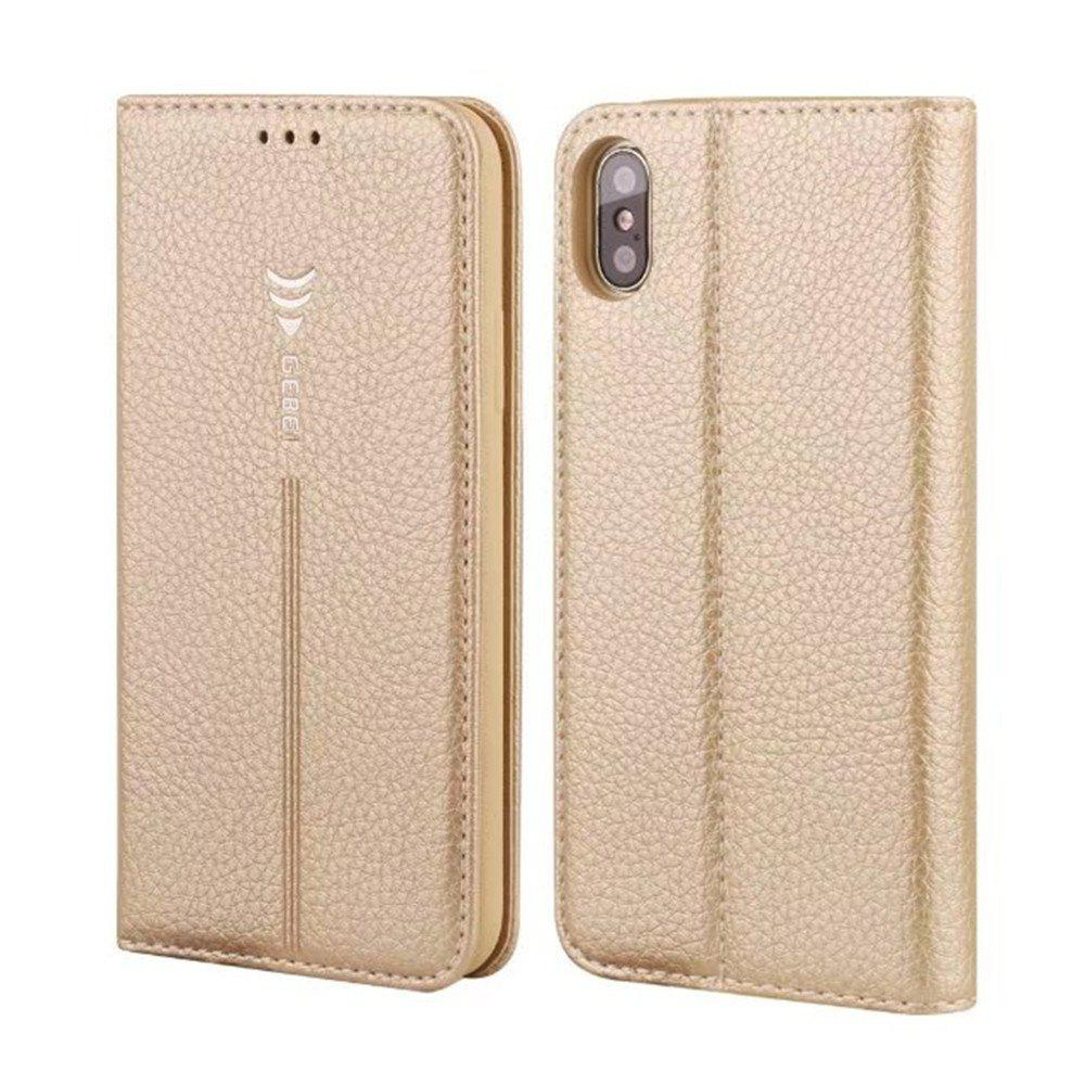 Buy For iPhone X Leather Case Can Insert Card Holder Head Layer Cowhide Mobile Protection Shell Following From Gold Silkworm Series