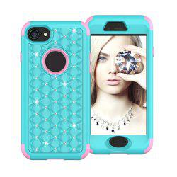 For iPhone 8 Classical Bling Star Glitter Diamond Armor Hybrid 360 Degree Body Cover -