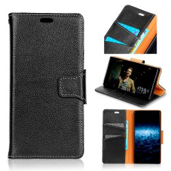 For Samsung J3 2017 Case Cover Card Holder Wallet with Stand Full Body Solid Color Hard Genuine Leather -