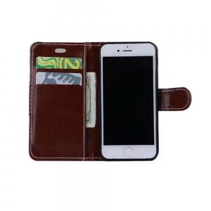 Case For iPhone X  Card Holder Wallet with Stand Flip Full Body Lines / Waves Hard Textile -