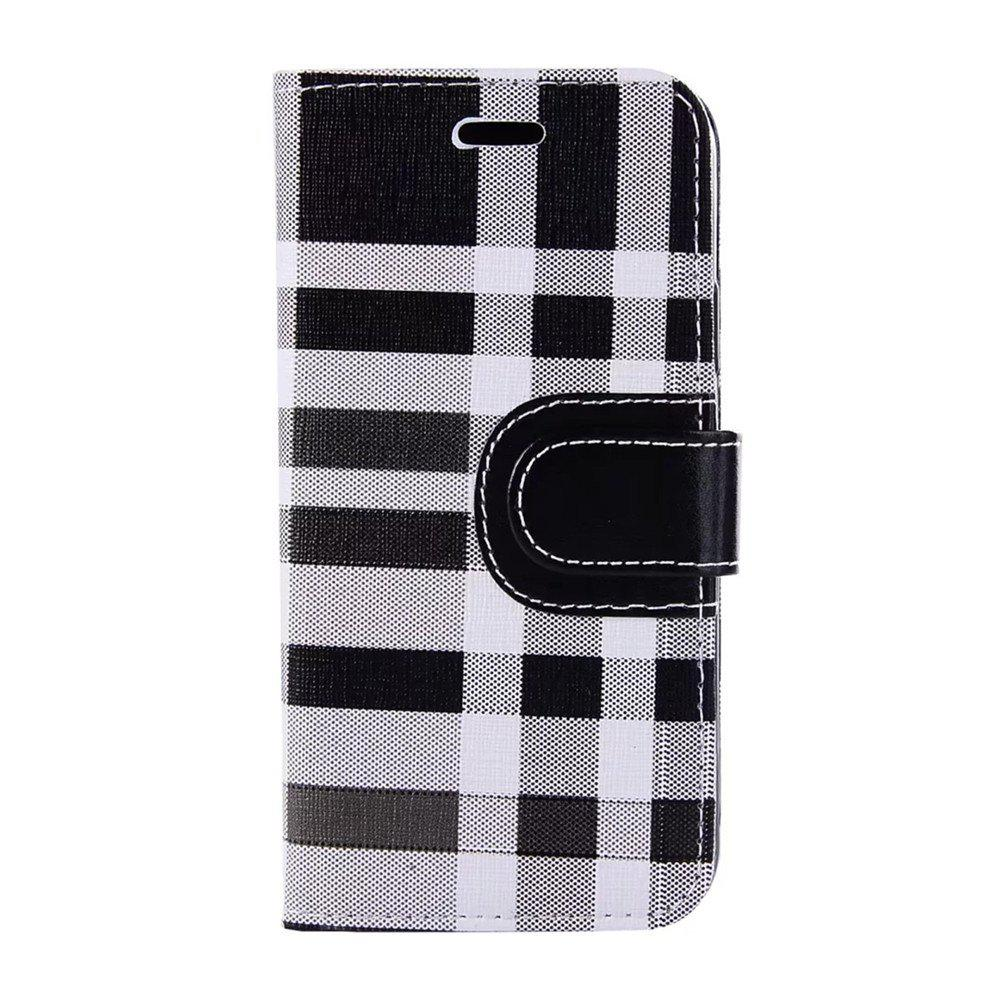 Discount Case For iPhone X  Card Holder Wallet with Stand Flip Full Body Lines / Waves Hard Textile