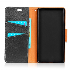 For iPhone8 Plus / 7 Plus Case Cover Card Holder Wallet with Stand Full Body Solid Color Hard Genuine Leather -