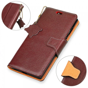 For Samsung A5 2017 Case Cover Card Holder Wallet with Stand Full Body Solid Color Hard Genuine Leather -