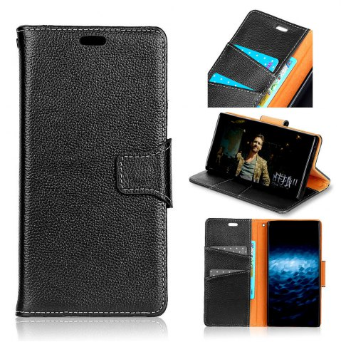 Outfit For Samsung A5 2017 Case Cover Card Holder Wallet with Stand Full Body Solid Color Hard Genuine Leather