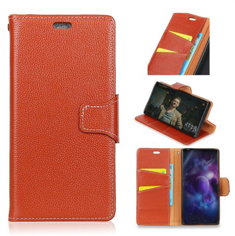 Affordable For Samsung Note 8 Case Cover Card Holder Wallet with Stand Full Body Solid Color Hard Genuine Leather
