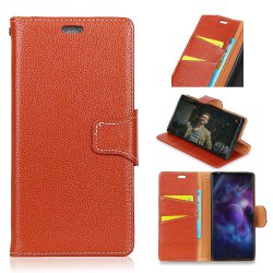 For Samsung Note 8 Case Cover Card Holder Wallet with Stand Full Body Solid Color Hard Genuine Leather -