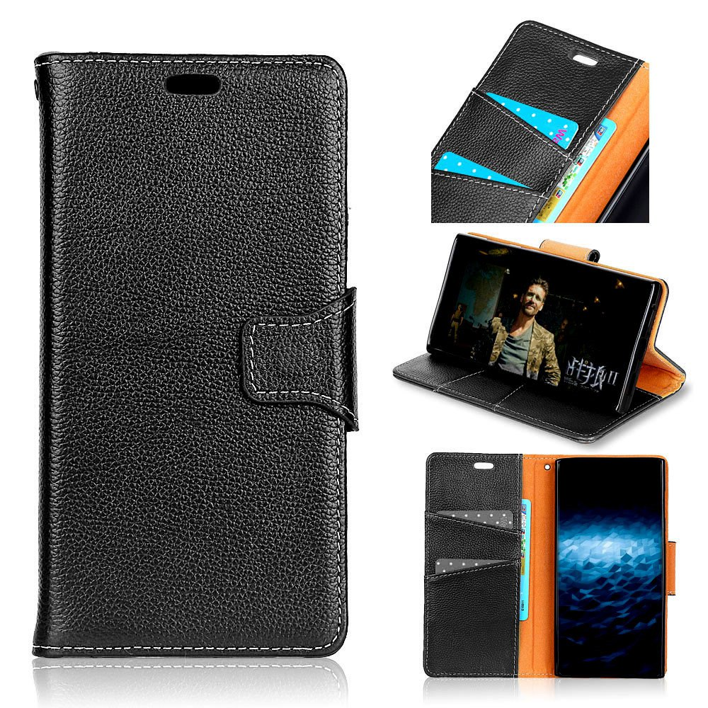 Hot For Huawei Honor 6C Enjoy 6S Case Cover Card Holder Wallet with Stand Full Body Solid Color Hard Genuine Leather