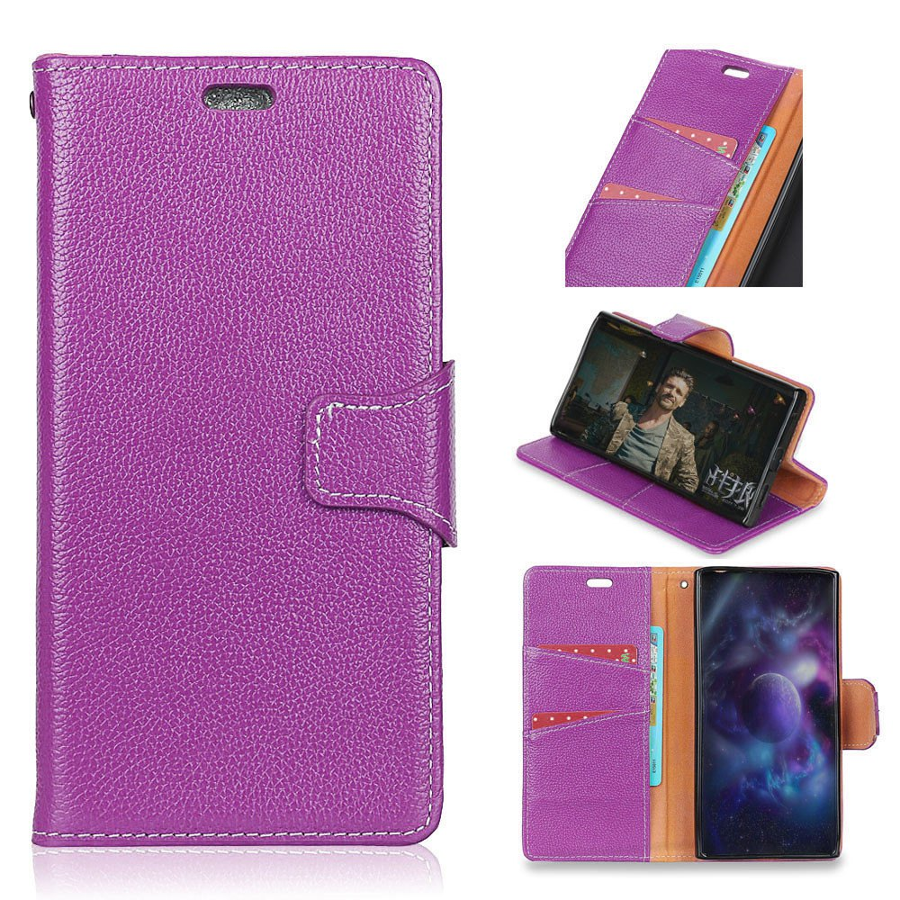 Store For Huawei Honor 6C Enjoy 6S Case Cover Card Holder Wallet with Stand Full Body Solid Color Hard Genuine Leather