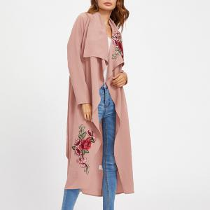 Women's Coat Casual Thin Rose Cape Trench Coat -