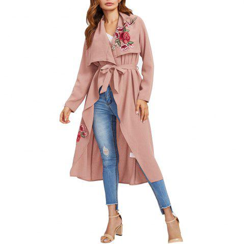 Fashion Women's Coat Casual Thin Rose Cape Trench Coat