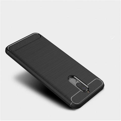 Shop Fundas Carbon Fiber Antislip Rubber Cover for Huawei Maimang 6 Mate10 Lite Case
