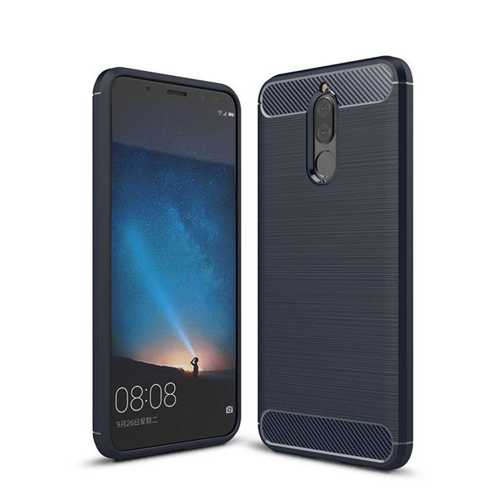 Fancy Fundas Carbon Fiber Antislip Rubber Cover for Huawei Maimang 6 Mate10 Lite Case