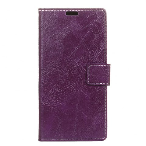 Hot Genuine Quality Retro Style Crazy Horse Pattern Flip PU Leather Wallet Case for LG Q6