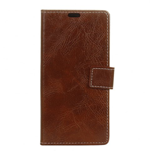 Fancy Genuine Quality Retro Style Crazy Horse Pattern Flip PU Leather Wallet Case for LG Q6