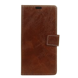 Genuine Quality Retro Style Crazy Horse Pattern Flip PU Leather Wallet Case for LG Q6 -