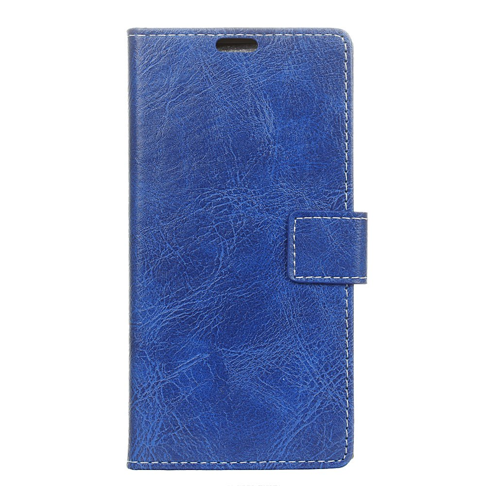 Cheap Genuine Quality Retro Style Crazy Horse Pattern Flip PU Leather Wallet Case for LG Q6