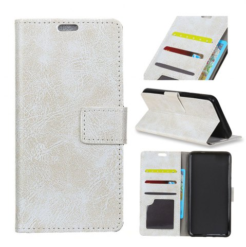 Fashion Genuine Quality Retro Style Crazy Horse Pattern Flip PU Leather Wallet Case for LG Q8