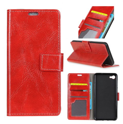 Affordable Genuine Quality Retro Style Crazy Horse Pattern Flip PU Leather Wallet Case for LG Q8