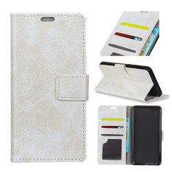 Genuine Quality Retro Style Crazy Horse Pattern Flip PU Leather Wallet Case for LG Q8 -