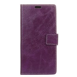 Genuine Quality Retro Style Crazy Horse Pattern Flip PU Leather Wallet Case for MOTO G6 Plus -