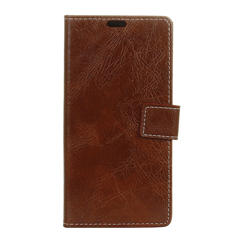 Sale Genuine Quality Retro Style Crazy Horse Pattern Flip PU Leather Wallet Case for MOTO G6 Plus