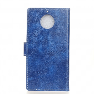 Genuine Quality Retro Style Crazy Horse Pattern Flip PU Leather Wallet Case for MOTO G6 -