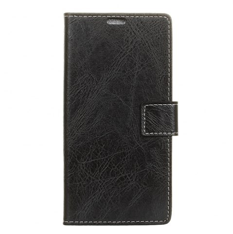 Trendy Genuine Quality Retro Style Crazy Horse Pattern Flip PU Leather Wallet Case for MOTO G6