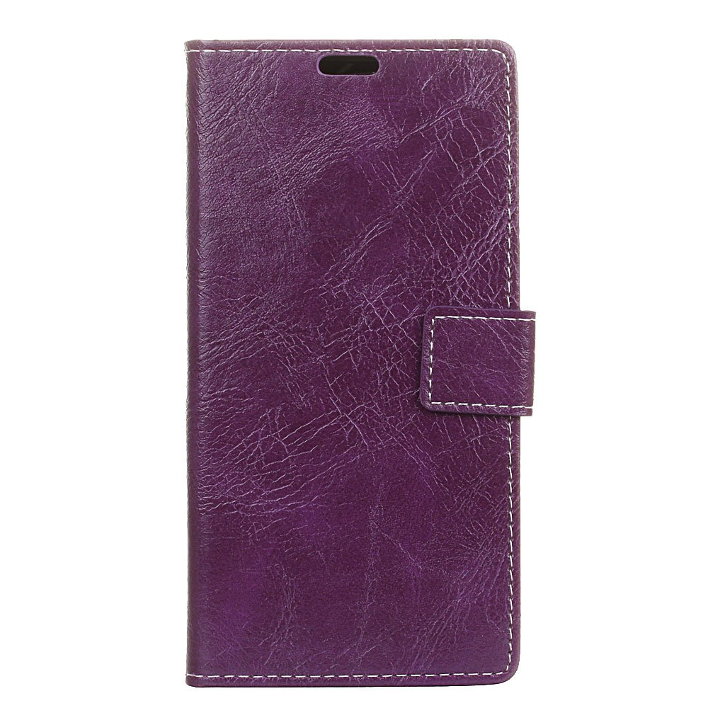 Chic Genuine Quality Retro Style Crazy Horse Pattern Flip PU Leather Wallet Case for MOTO G6