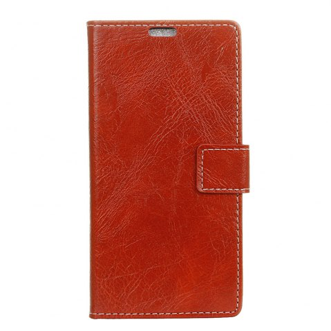 Outfit Genuine Quality Retro Style Crazy Horse Pattern Flip PU Leather Wallet Case for Huawei Enjoy 6S