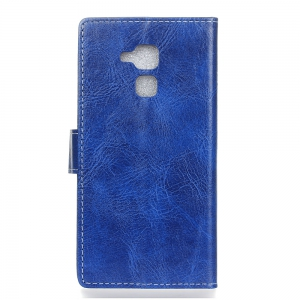 Genuine Quality Retro Style Crazy Horse Pattern Flip PU Leather Wallet Case for Huawei Honor 7 Lite -