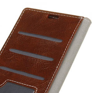 Genuine Quality Retro Style Crazy Horse Pattern Flip PU Leather Wallet Case for Huawei Honor V9 Play -