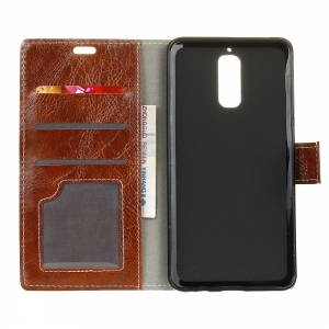 Genuine Quality Retro Style Crazy Horse Pattern Flip PU Leather Wallet Case for Huawei Mate 9 Pro -