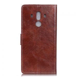 Genuine Quality Retro Style Crazy Horse Pattern Flip PU Leather Wallet Case for Huawei Mate 10 Pro -