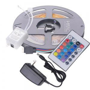 HML 5M 24W RGB SMD2835 300LEDs Strip Light with IR 24 Keys Remote Controller and DC Adapter 2PCS 100 - 240V -