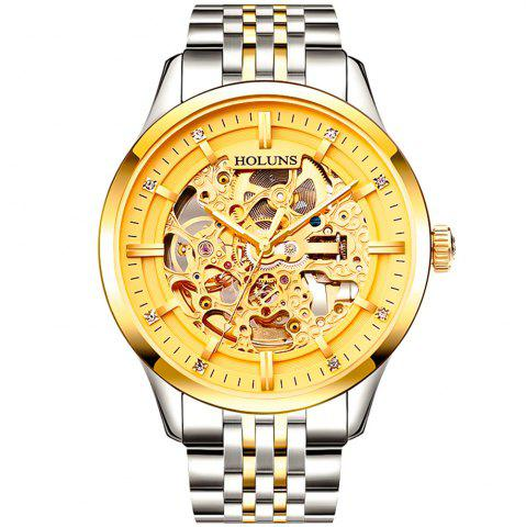 Hot HOLUNS 4871 Business Casual Waterproof Steel Band Men Automatic Mechanical Watch with Box