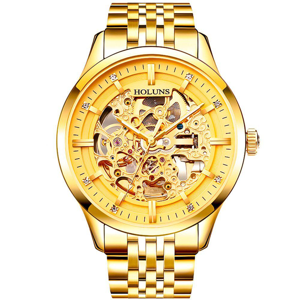 Shop HOLUNS 4871 Business Casual Waterproof Steel Band Men Automatic Mechanical Watch with Box
