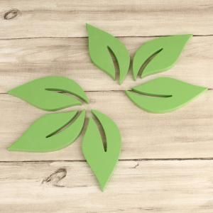 DIY Leaves 3D Rtereo Wooden Removable Wall Stickers (6pcs) -