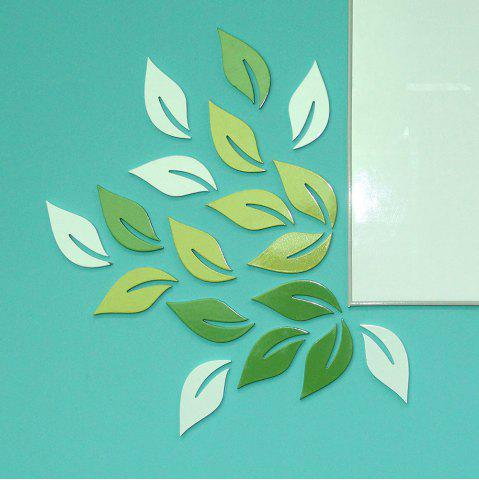 Store DIY Leaves 3D Rtereo Wooden Removable Wall Stickers (6pcs)