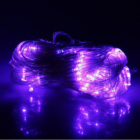 Cheap 200 LEDs Purple Net Fairy Light Christmas Party Wedding Decoration